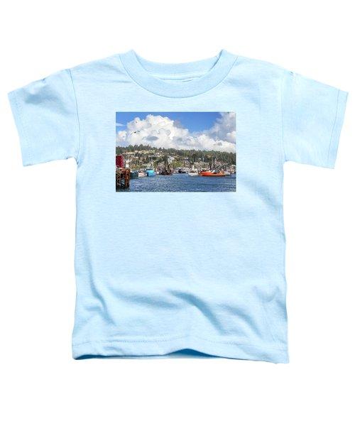 Boats In Yaquina Bay Toddler T-Shirt