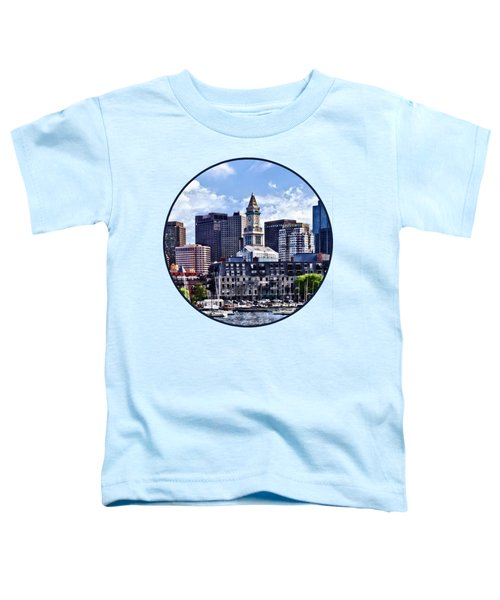 Boston Ma - Skyline With Custom House Tower Toddler T-Shirt