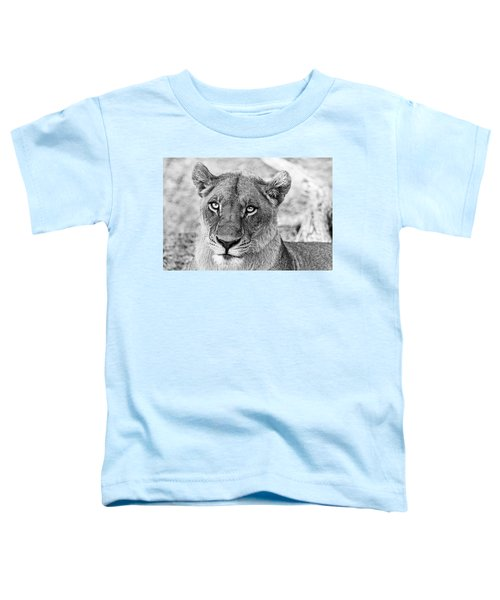 Botswana  Lioness In Black And White Toddler T-Shirt