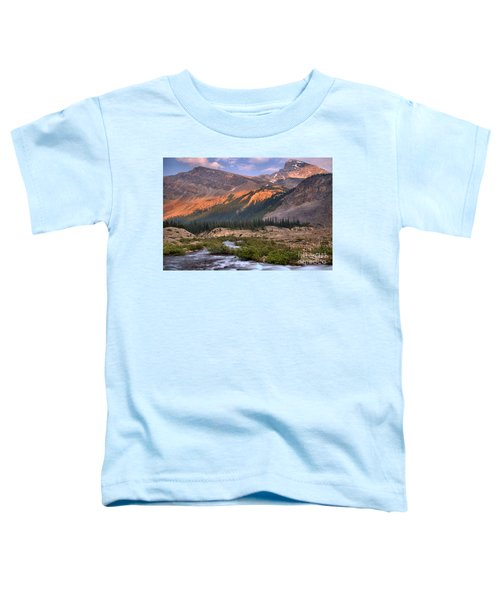 Bow Glacier Creek Sunset Toddler T-Shirt
