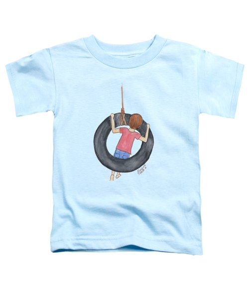 Boy On Swing 1 Toddler T-Shirt