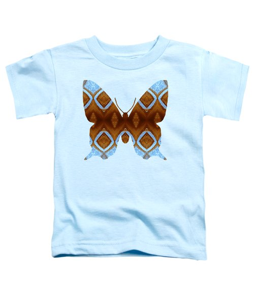 Brown And Blue Butterfly Toddler T-Shirt