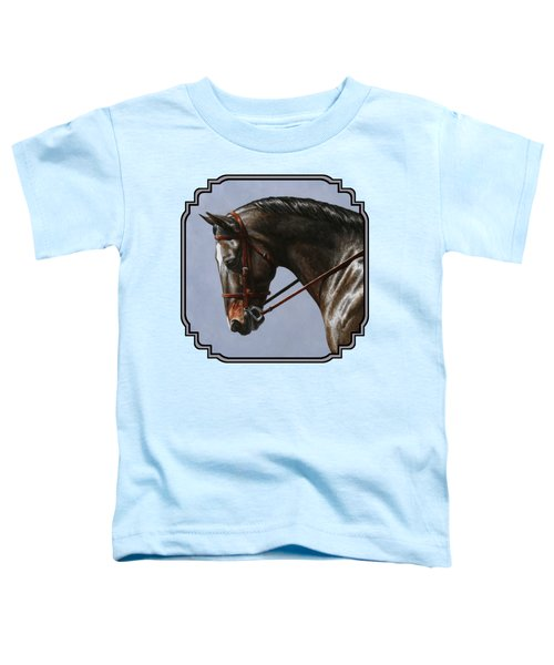 Brown Dressage Horse Phone Case Toddler T-Shirt