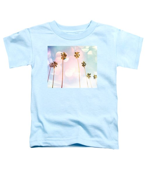Bubble Gum Palm Trees Toddler T-Shirt