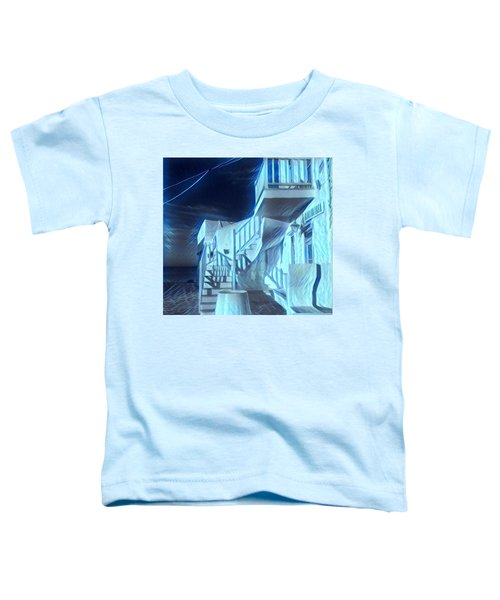 Toddler T-Shirt featuring the photograph Building At Harbour  by Colette V Hera Guggenheim