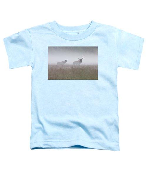 Bull And Cow Elk In Fog - September 30 2016 Toddler T-Shirt