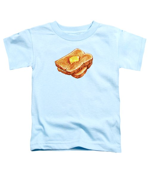 Buttered Toast Pattern Toddler T-Shirt