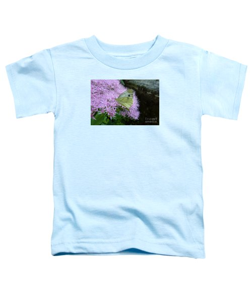 Butterfly On Mauve Flowers Toddler T-Shirt