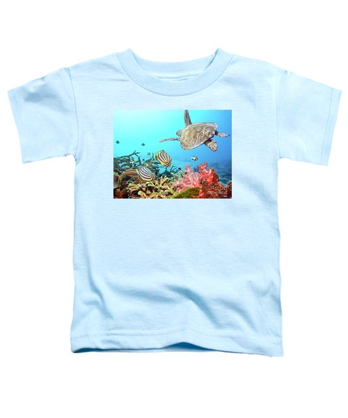 Butterflyfishes And Turtle Toddler T-Shirt
