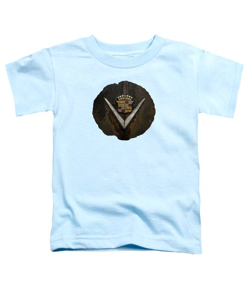 Toddler T-Shirt featuring the photograph Caddy Emblem by Debra and Dave Vanderlaan