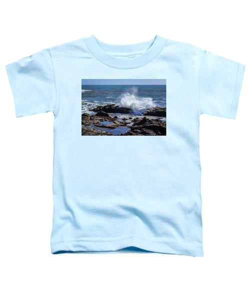 Wave Crashing On California Coast Toddler T-Shirt