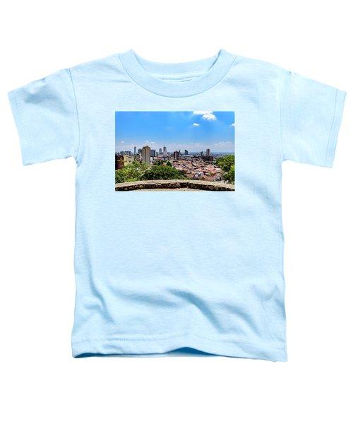 Cali Skyline Toddler T-Shirt by Randy Scherkenbach