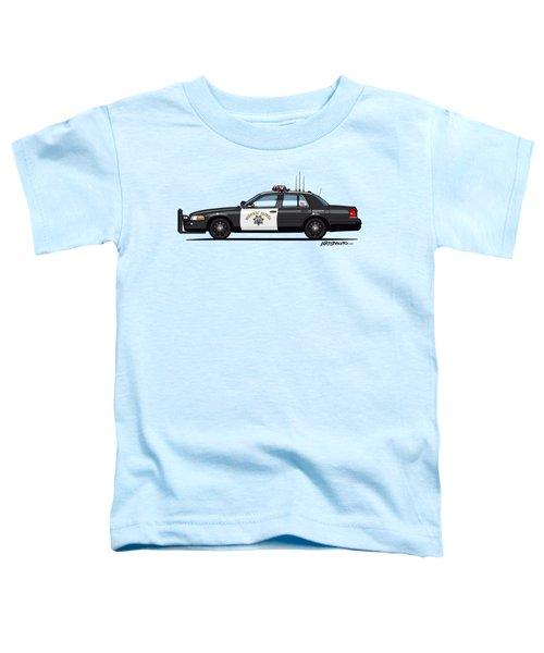 California Highway Patrol Ford Crown Victoria Police Interceptor Toddler T-Shirt