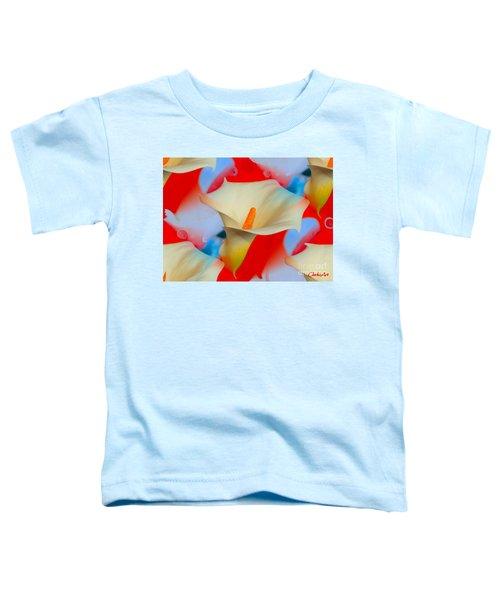 Splashy Calla Lilies Toddler T-Shirt