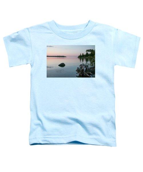 Calm Water At Lake Huron Crystal Point Toddler T-Shirt