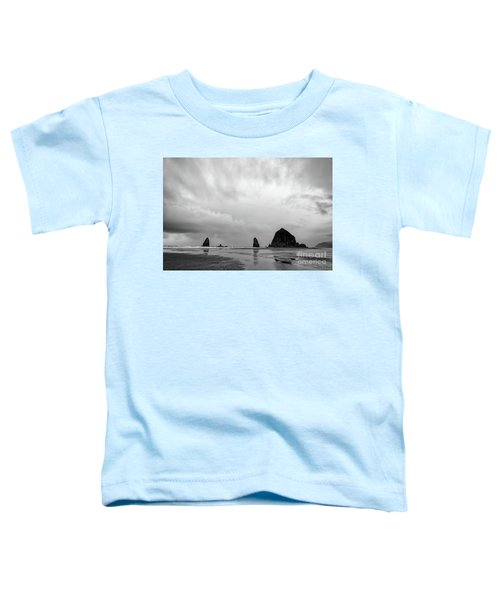 Cannon Beach In Black And White Toddler T-Shirt