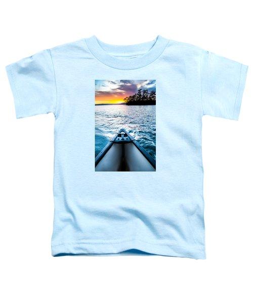 Canoeing In Paradise Toddler T-Shirt