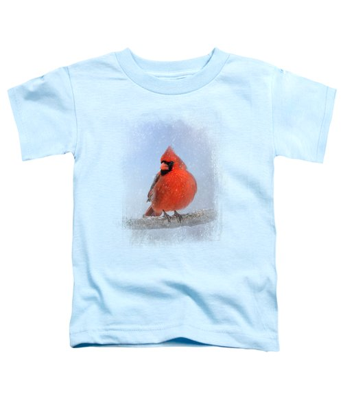 Cardinal In The Snow Toddler T-Shirt by Jai Johnson