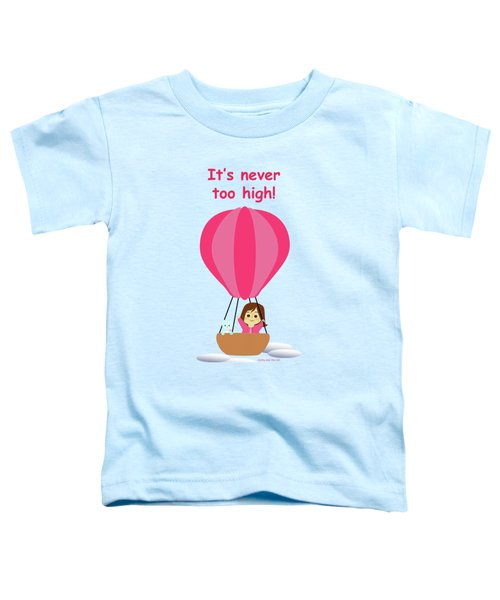 Cathy And The Cat - Hot Air Balloon Text Toddler T-Shirt
