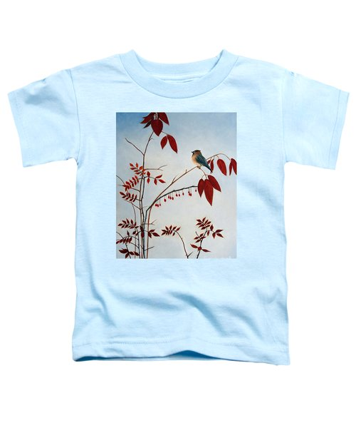 Cedar Waxwing Toddler T-Shirt by Laura Tasheiko