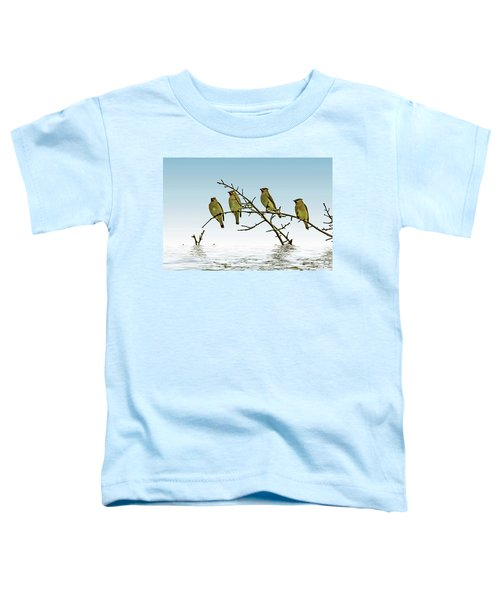 Cedar Waxwings On A Branch Toddler T-Shirt