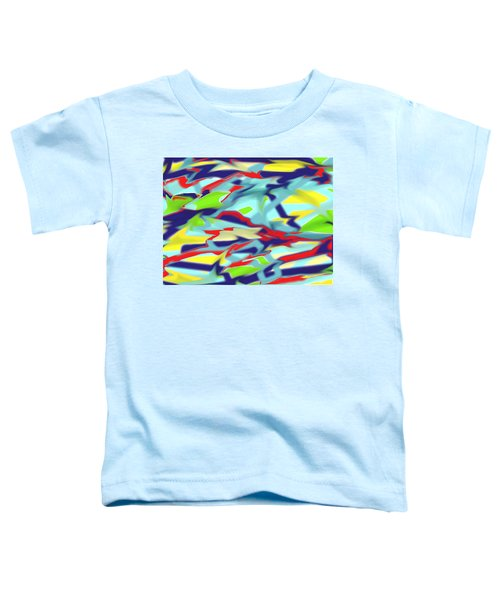 Chaos Into Form Blue Toddler T-Shirt