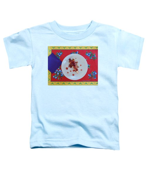 Cheese Cake With Cherries Toddler T-Shirt