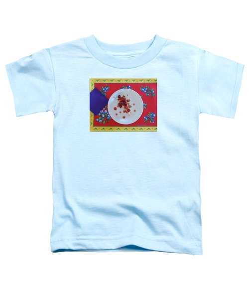 Cheese Cake With Cherries Toddler T-Shirt