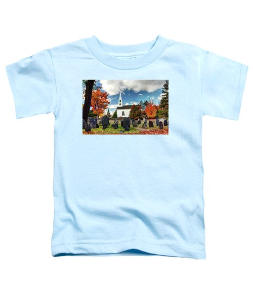Chester Village Cemetery In Autumn Toddler T-Shirt