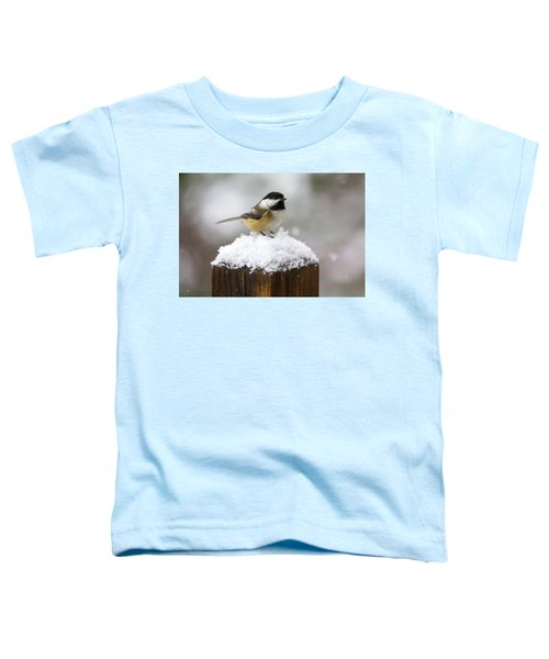 Chickadee In The Snow Toddler T-Shirt