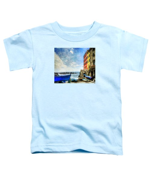 Cinque Terre - Little Port Of Riomaggiore - Vintage Version Toddler T-Shirt