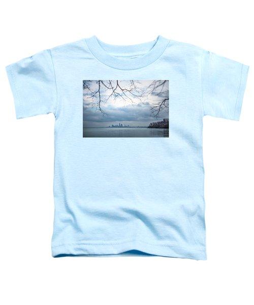 Cleveland Skyline With A Vintage Lens Toddler T-Shirt