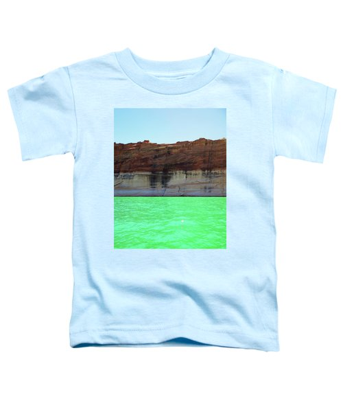 Cliff At Lake Powell Toddler T-Shirt