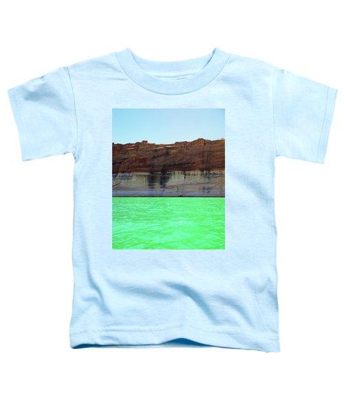 Cliff At Lake Powell Toddler T-Shirt
