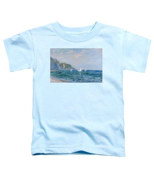 Cliffs And Sailboats At Pourville  Toddler T-Shirt
