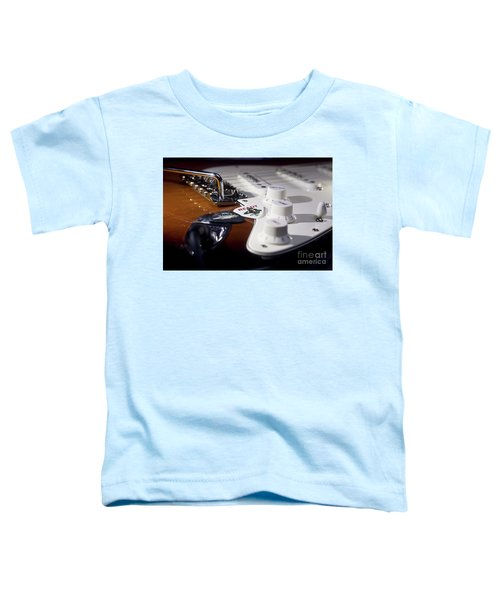 Toddler T-Shirt featuring the photograph Close Up Guitar by MGL Meiklejohn Graphics Licensing