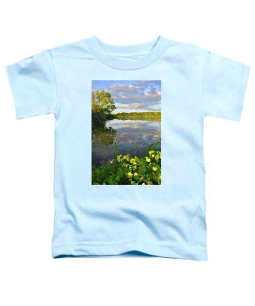 Clouds Mirrored In Snug Harbor Toddler T-Shirt