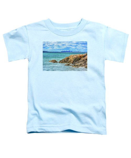 Cloudy Boston Toddler T-Shirt