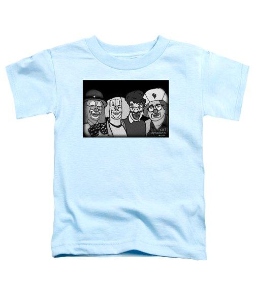 Clowns Bw Toddler T-Shirt