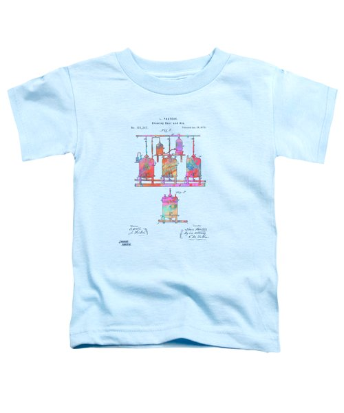 Colorful 1873 Brewing Beer And Ale Patent Artwork Toddler T-Shirt