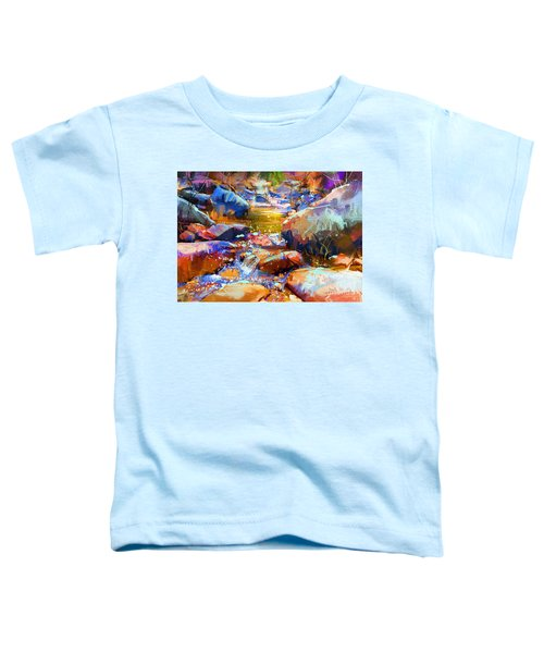 Toddler T-Shirt featuring the painting Colorful Stones by Tithi Luadthong