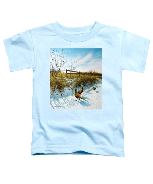 Colors Of Winter - Pheasants Toddler T-Shirt