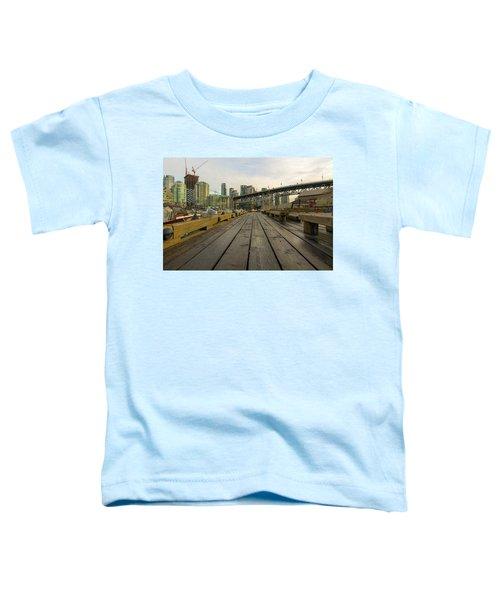 Condominium Buildings Along Granville Island Vancouver Bc Toddler T-Shirt