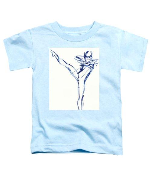 Contemporary Ballet Dancer, Blue Toddler T-Shirt