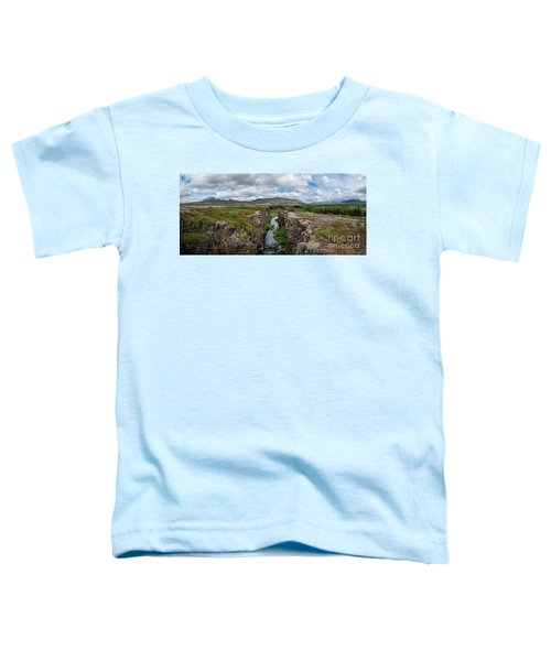 Continental Divide Panorama In Iceland Toddler T-Shirt