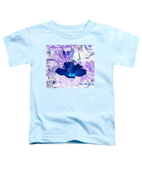 Cool Blue Hawaiian Hibiscus Toddler T-Shirt