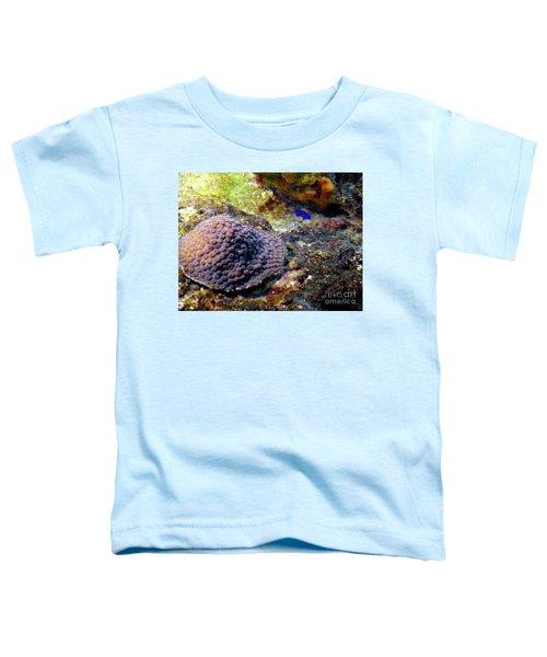Toddler T-Shirt featuring the digital art Coral Art Cu 3 by Francesca Mackenney