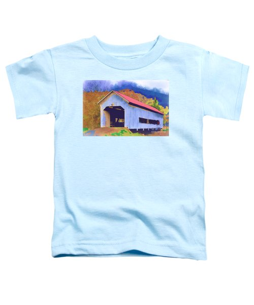Covered Bridge With Red Roof Toddler T-Shirt