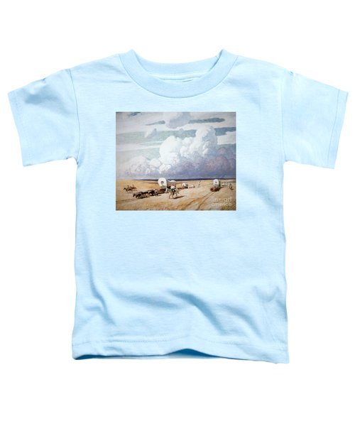 Covered Wagons Heading West Toddler T-Shirt