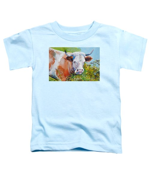 Cow With Horns Toddler T-Shirt